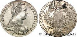 AUSTRIA 1 Thaler (REFRAPPE) Marie-Thérèse 1780 Vienne MS