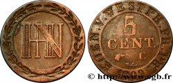 GERMANY - KINGDOM OF WESTPHALIA 5 Centimes monogramme de Jérôme Napoléon 1809  XF