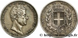 ITALIE - ROYAUME DE SARDAIGNE 5 Lire Charles Albert 1833 Gênes TTB