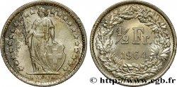 SWITZERLAND 1/2 Franc Helvetia 1964 Berne MS