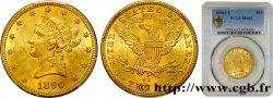ÉTATS-UNIS DAMÉRIQUE 10 Dollars or Liberty 1890 Carson City PCGS MS62