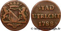 NETHERLANDS 1 Duit Utrecht 1788  VF