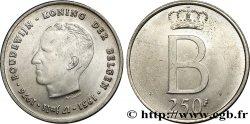 BELGIUM 250 Francs jubilé d'argent du roi Baudouin légende flamande 1976 Bruxelles AU