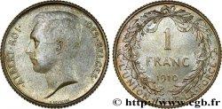 BELGIUM 1 Franc Albert Ier légende française 1910  MS