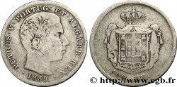 PORTUGAL 500 Reis Pierre V 1859  F