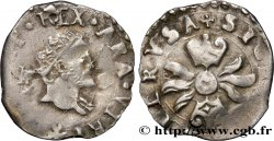 ITALIE - ROYAUME DE NAPLES - PHILIPPE II DESPAGNE 1/2 Carlino n.d. Messine TTB