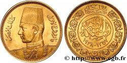 ÉGYPTE - ROYAUME DÉGYPTE - FAROUK 100 Piastres or jaune, pour le mariage de Farouk AH 1357 1938