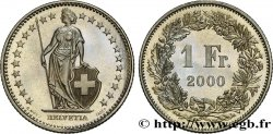 SUISSE 1 Franc Proof Helvetia 2000 Berne - B FDC