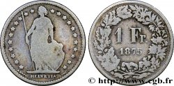 SUISSE 1 Franc Helvetia 1875 Berne TB