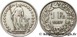SUISSE 1 Franc Helvetia 1937 Berne - B TTB