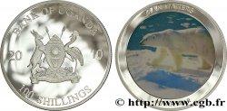 UGANDA 100 Shillings Proof série Mangeurs d'hommes : ours polaire 2010  MS