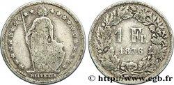 SUISSE 1 Franc Helvetia 1876 Berne TB