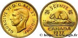 CANADA - GEORGES VI Essai de frappe 5 Cents Laiton 1937 -