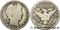 UNITED STATES OF AMERICA 1/2 Dollar Barber 1904 Nouvelle-Orléans - O F