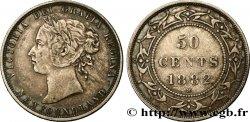 TERRE-NEUVE 50 Cents Victoria 1882 Heaton TTB