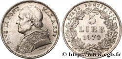 VATICAN - PIE IX 5 Lire an XXV 1870 Rome SUP/SUP+