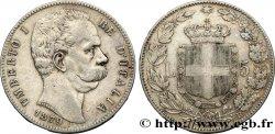 ITALY 5 Lire Humbert Ier 1879 Rome VF