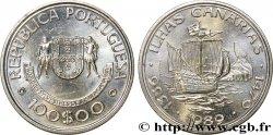 PORTUGAL 100 Escudos découverte des îles Canaries 1989  SPL