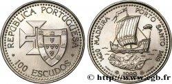 PORTUGAL 100 Escudos Découvertes Portugaises de Madère 1420 et Porto Santo 1419 1989  SPL