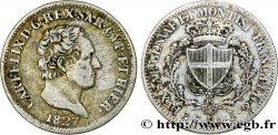 ITALY - KINGDOM OF SARDINIA 50 CentesimiCharles Félix 1827 Gènes XF/VF