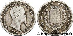 ITALY - KINGDOM OF SARDINIA 50 Centesimi Victor Emmanuel II 1860 Milan VF