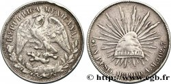 MEXICO 1 Peso aigle / bonnet phrygien et rayons 1900 Mexico VF
