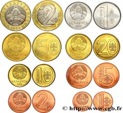 BELARUS Lot de 8 monnaies 2009 2009  MS