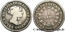 ITALY - LUCCA AND PIOMBINO 1 Franco 1808 Florence VF