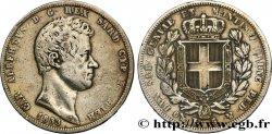 ITALY - KINGDOM OF SARDINIA 5 Lire Charles Albert 1833 Gênes VF