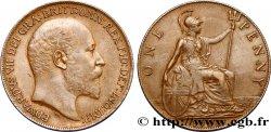 UNITED KINGDOM 1 Penny Edouard VII 1908  AU