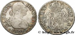 SPAIN 2 Reales Charles IV 1807 Séville VF/XF