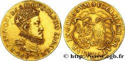 ALLEMAGNE - VILLE DE NUREMBERG - RUDOLPHE II Gulden d'or 1580 Nuremberg TTB+