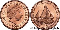 ISLE OF MAN 2 Pence Elisabeth II / ancien voilier de pêche 2000  MS