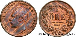 SWEDEN 1 Ore Charles XV 1867  XF