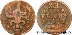 DEUTSCHLAND - AACHEN 12 Heller ville de Aachen aigle 1791  S