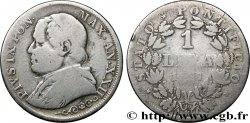 VATICAN AND PAPAL STATES 1 Lire Pie IX an XXII 1867 Rome