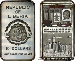 LIBERIA 10 Dollars Proof colorisée Chine 1997  MS