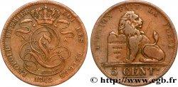 BÉLGICA 5 Centimes monogramme de Léopold Ier 1848  BC+