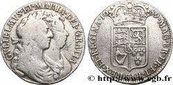 UNITED KINGDOM 1/2 Crown Guillaume et Marie 1689
