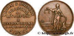 AUSTRALIA 1/2 Penny Weight & Johnson Sydney New South Wales N.D