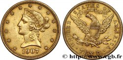 INVESTMENT GOLD 10 Dollars Liberty  1907 Philadelphie