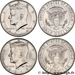 ESTADOS UNIDOS DE AMÉRICA Lot de deux 1/2 Dollar Kennedy 2019 Philadelphie + Denver
