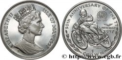 ILE DE MAN 1 Crown Proof Élisabeth II - 90e anniversaire du Tourist Trophy - Omobono Tenni 1997 Pobjoy Mint