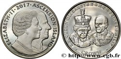 ASCENSION 1 Crown 70e anniversaire de mariage de la reine Élisabeth II 2017 Pobjoy Mint