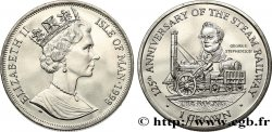 ISOLA DI MAN 1 Crown Proof 125e anniversaire du train à vapeur - locomotive The Rocket de Georges Stephenson 1998 Pobjoy Mint
