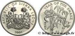 SIERRA LEONA 1 Dollar Proof année du serpent 2001 Pobjoy Mint