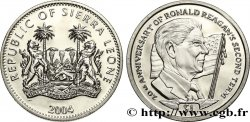 SIERRA LEONA 1 Dollar Proof 20e anniversaire du second mandat de Ronald Reagan 2004 Pobjoy Mint
