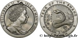 ISOLA DI MAN 1 Crown Proof année du serpent 2001 Pobjoy Mint