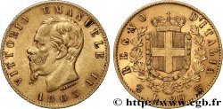 INVESTMENT GOLD 20 Lire Victor Emmanuel II 1863 Turin