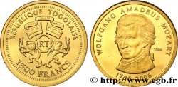 TOGO 1000 Francs Proof Mozart 2006
